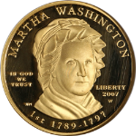 2007-W First Spouse Gold $10 Martha Washington NGC PF69 UCAM First Lady - STOCK