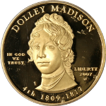 2007-W First Spouse Gold $10 Dolley Madison ICG PR70 DCAM