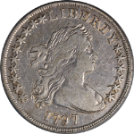 1797 Bust Dollar 10x6 Stars PCGS VF20 Great Eye Appeal Nice Strike