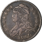 1809 Bust Half Dollar XXXX Edge Choice VF/XF 0-102 R.1 Superb Eye Appeal