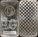 10 Troy Ounces Fine Silver Bar .999+ Made in USA