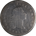 1795 Bust Dollar 'Three Leaves Beneath Each Wing' G Details Nice Strike