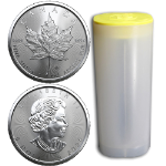 2020 Canada Silver Maple Leaf 1 Ounce Coins Original BU Roll - Contains 25 Coins