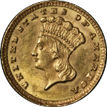 1885 Type 3 Indian Princess Gold $1 Nice BU Nice Eye Appeal Nice Luster