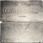 Engelhard 100 Ounce Extruded Silver Bar .999+ Fine - STOCK