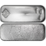 JM 100 Ounce Poured Silver Bar .999+ Fine - STOCK
