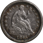 1845-P Seated Liberty Half Dime
