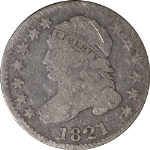 1821 Bust Dime Large Date