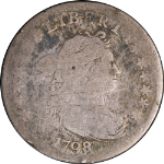 1798 Bust Dime 16 Stars G(ish) Decent Eye Appeal