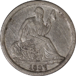 1837 Seated Liberty Half Dime - No Stars