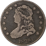 1828 Bust Quarter Choice F/VF Superb Eye Appeal Strong Strike
