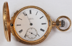 American Parts or Repair Pocket Watch 18 Size 18k Hunting - Not Working