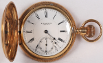 E. Howard & Co. Model VII Pocket Watch 18 Size 14k Hunting - Working