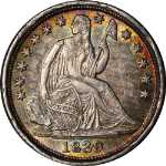 1839-O Seated Liberty Half Dime Choice BU+ Great Eye Appeal Strong Strike