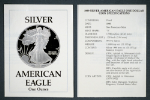1989-S Silver American Eagle Proof Certificate of Authenticity