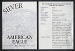 1997-P Silver American Eagle Proof Certificate of Authenticity