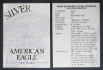 1998-P Silver American Eagle Proof Certificate of Authenticity