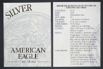 2000-P Silver American Eagle Proof Certificate of Authenticity