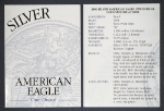 2001-W Silver American Eagle Proof Certificate of Authenticity