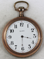 Elgin Grade 295 Parts/Repair Pocket Watch 6 Size 15 J. Gold-Filled Open-Face