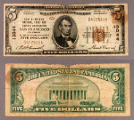 San Francisco CA $5 1929 T-1 National Bank Note Ch #13044 Bank of America NT and SA Fair