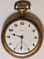 Elgin Grade 336 Pocket Watch 18 Size 17 J. Gold-Filled Open-Face - Working