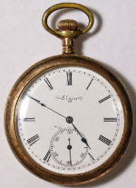 Elgin Grade 197 Parts/Repair Pocket Watch 12 Size 7 J. Gold-Filled Open-Face