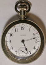 American Waltham Pocket Watch 18 Size 7 J. Silverine Open-Face - Working