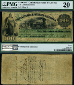 T-3 $100 1861 Confederate Note PMG VF20