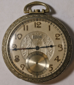 Elgin Grade 303 Parts/Repair Pocket Watch 12 Size 7 J. Base Metal Open-Face