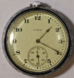 Elgin Grade 315 Pocket Watch 12 Size 15 J. Base Metal Open-Face - Working