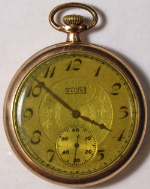Elgin Grade 345 Pocket Watch 12 Size 17 J. Gold-Filled Open-Face - Not Working