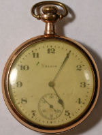 Elgin Grade 357 Parts/Repair Pocket Watch 16 Size 17 J. Gold-Filled Open-Face