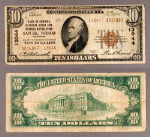 San Francisco CA $10 1929 T-2 National Bank Note Ch #13044 Bank of America NT and SA VG