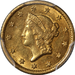1851-O Type 1 Liberty Gold $1 PCGS MS61 Great Eye Appeal Nice Luster