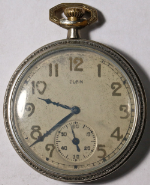 Elgin Grade 315 Pocket Watch 12 Size 15 J. Metal Open-Face - Working