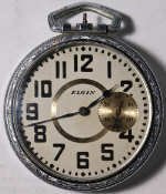 Elgin Grade 290 Parts/Repair Pocket Watch 16 Size 7 J. Metal Open-Face