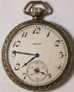 Elgin Grade 303 Parts/Repair Pocket Watch 12 Size 7 J. Gold-Filled Open-Face