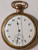 Elgin Grade 291 Pocket Watch 16 Size 7 J. Gold-Filled Open-Face - Not Working