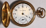 Columbus Pocket Watch 18 Size 17 J. Gold-Filled Hunting - Not Working