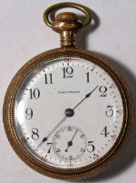 American Waltham Grade 620 Parts/Repair Pocket Watch 16 Size 15 J. Gold-Filled
