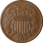 1869 Two (2) Cent Piece