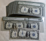 FR. 1606 $1 1934 Silver Certificate 61pc Consec. Lot Gem PMG 65-67 EPQ