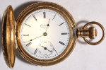 Elgin Grade 118 Parts/Repair Pocket Watch 6 Size 11 J. Gold-Filled Hunting