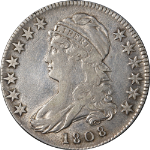 1808 Bust Half Dollar Choice VF+ 0-104 R.2 Great Eye Appeal Nice Strike