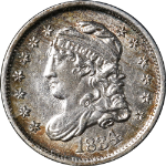 1834 Bust Half Dime Choice AU/BU Great Eye Appeal Strong Strike