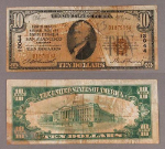 San Francisco CA $10 1929 T-1 National Bank Note Ch #13044 Bank of America NT and SA F/VF