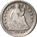 1848-O Seated Liberty Half Dime