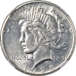 1925-P Peace Dollar NGC MS63 Bright White Great Eye Appeal Nice Strike STOCK
