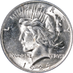 1924-P Peace Dollar PCGS MS64 Bright White Nice Eye Appeal Nice Strike STOCK